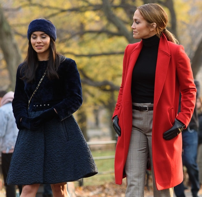Jennifer Lopez stars as Maria Vargas and Vanessa Hudgens as Zoe Clarke in the American romantic comedy film Second Act