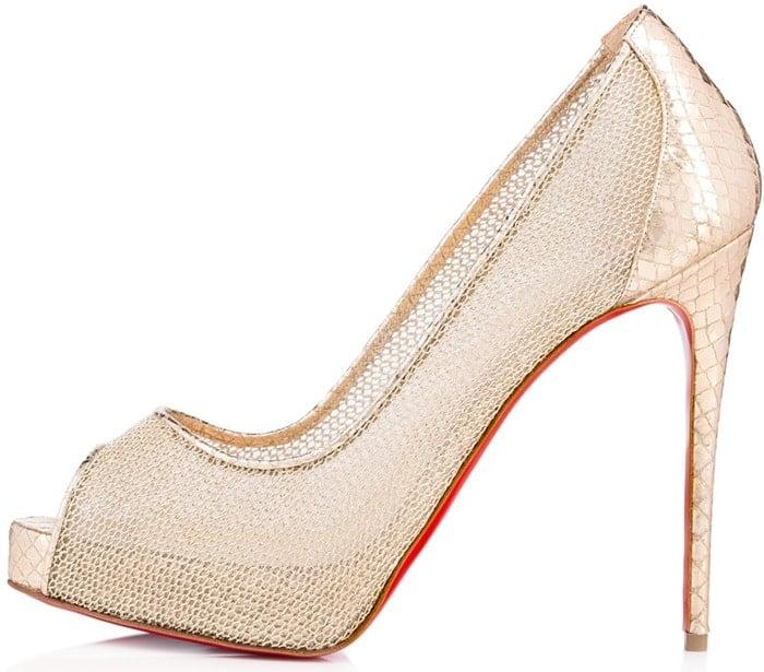 "Checked Quadro Lurex""New Very Prive"" 120mm Bridal Heels"