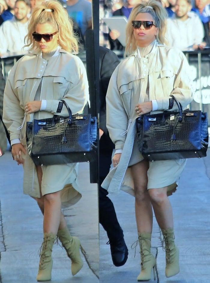 "Khloe Kardashian arriving at the ""Jimmy Kimmel Live!"" studios in Los Angeles"