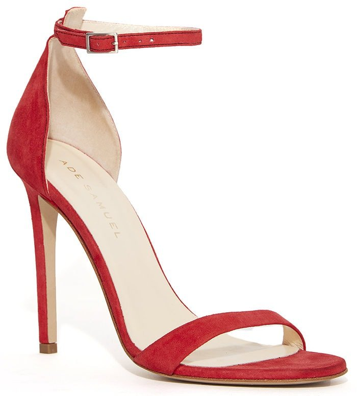 Ade Samuel 'Sophia' Sandals in Red Suede