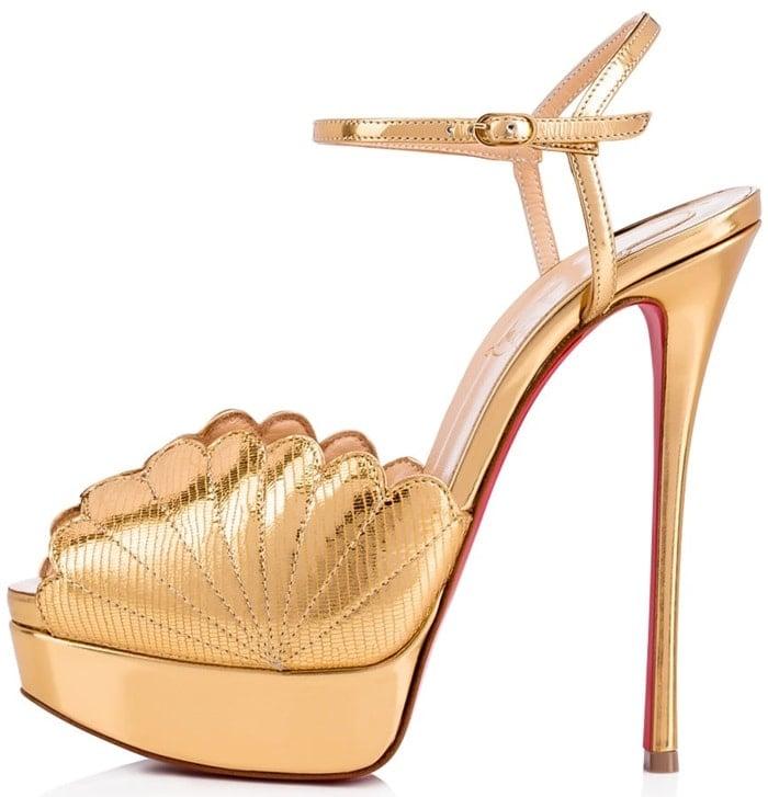 'Botticella Alta' Platform Sandals in Gold