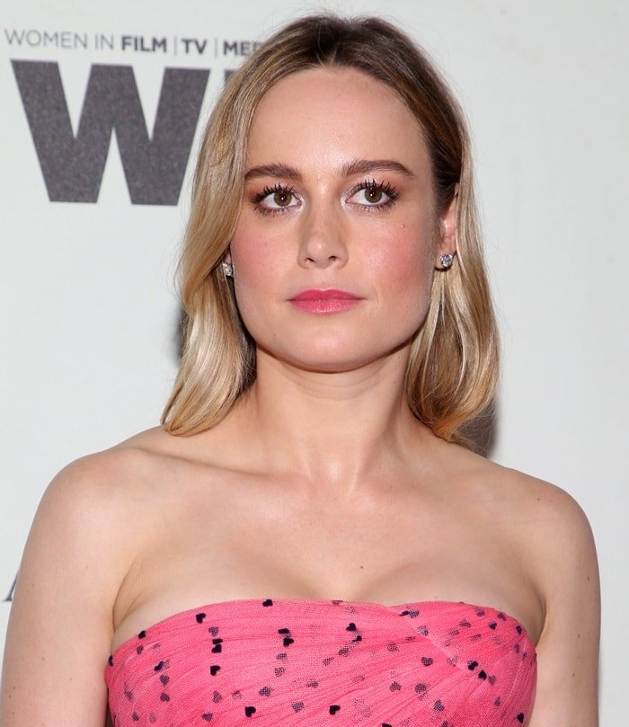 Brie Larson attends the Women In Film 2018 Crystal + Lucy Awards presented by Max Mara, Lancôme and Lexus at The Beverly Hilton Hotel in Beverly Hills on June 13, 2018