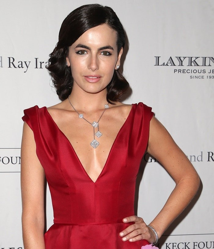 Camilla Belle wearing a dress from Carolina Herrera's Pre-Fall 2018 collection at the 2018 Los Angeles Ballet Gala at the Beverly Wilshire Four Seasons Hotel in Beverly Hills, California, on February 24, 2018
