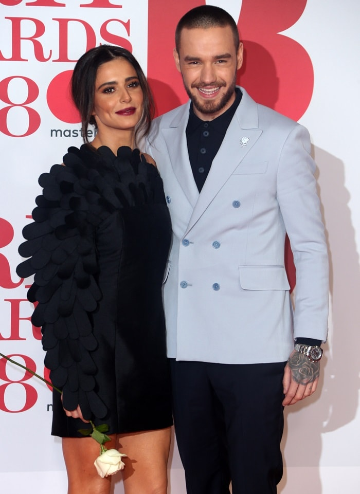 Liam Payne and Cheryl Cole at the 2018 BRIT Awards held at The O2 Arena in London, England, on February 21, 2018