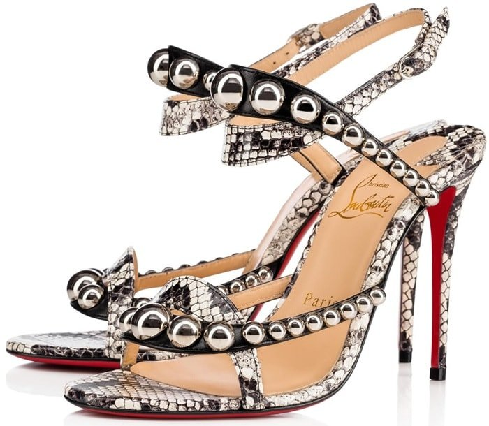 Christian Louboutin Galeria Leather & Snakeskin Sandals