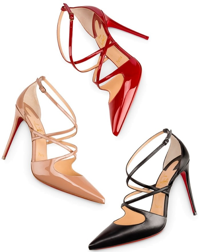 Christian Louboutin 'Crossfliketa' Pointy-Toe Pumps