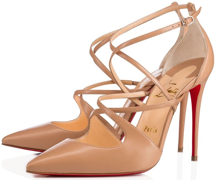 'Crossfliketa' pumps in nude leather