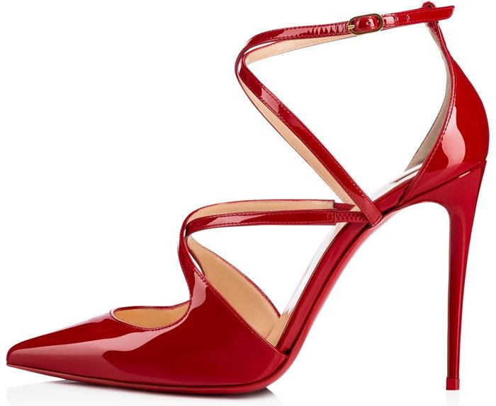 'Crossfliketa' pumps in red patent leather