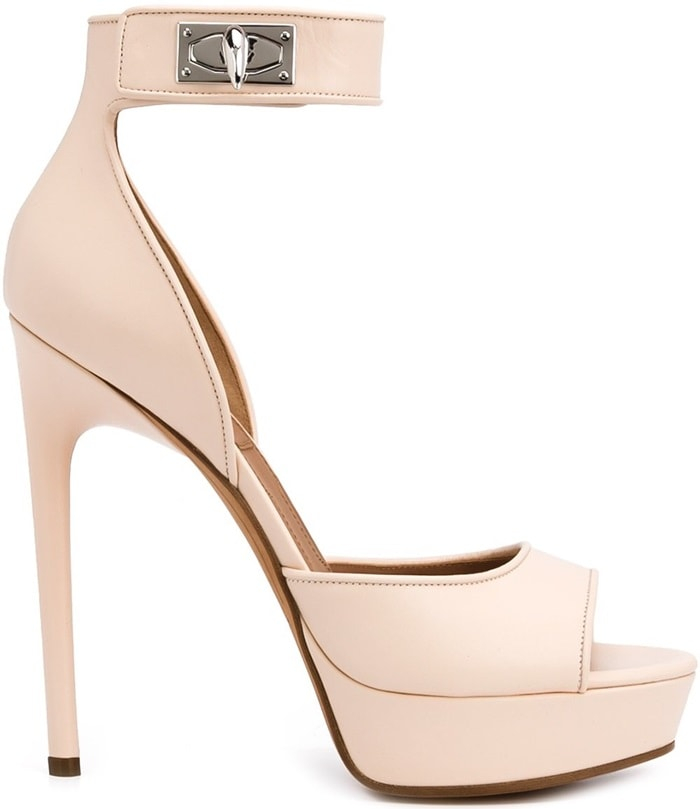 Givenchy 'Shark Tooth' sandals in pink leather