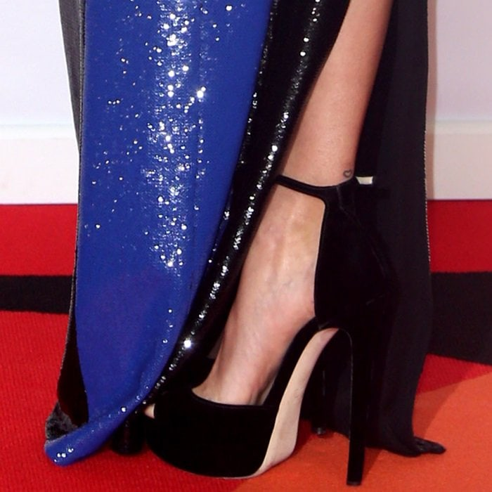 ba8e7aa8c89c Brit Awards Red Carpet Shoes  Flower Power Fashion for  Times Up