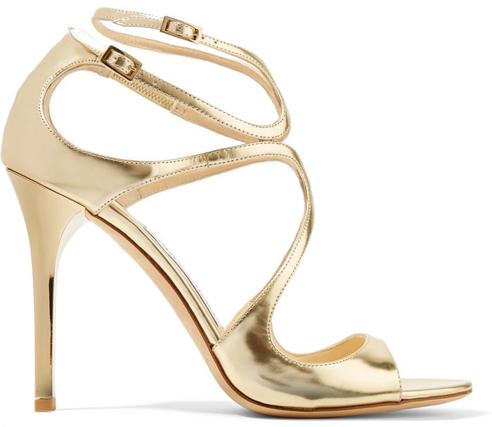 These timeless pale-gold leather 'Lang' sandals will make a glamorous addition to evening wear or sleek tailoring