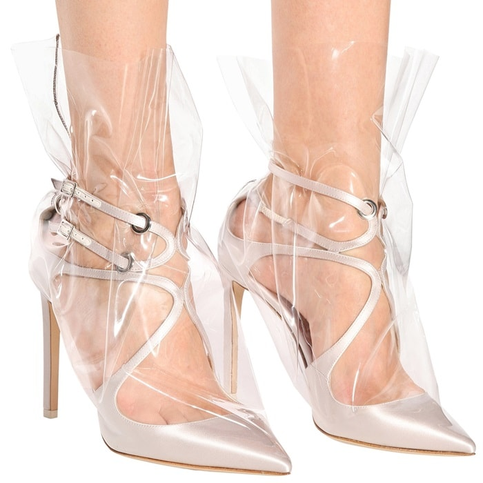 e40156c3333 Plastic Bag Boots and Shoes by Off-White x Jimmy Choo