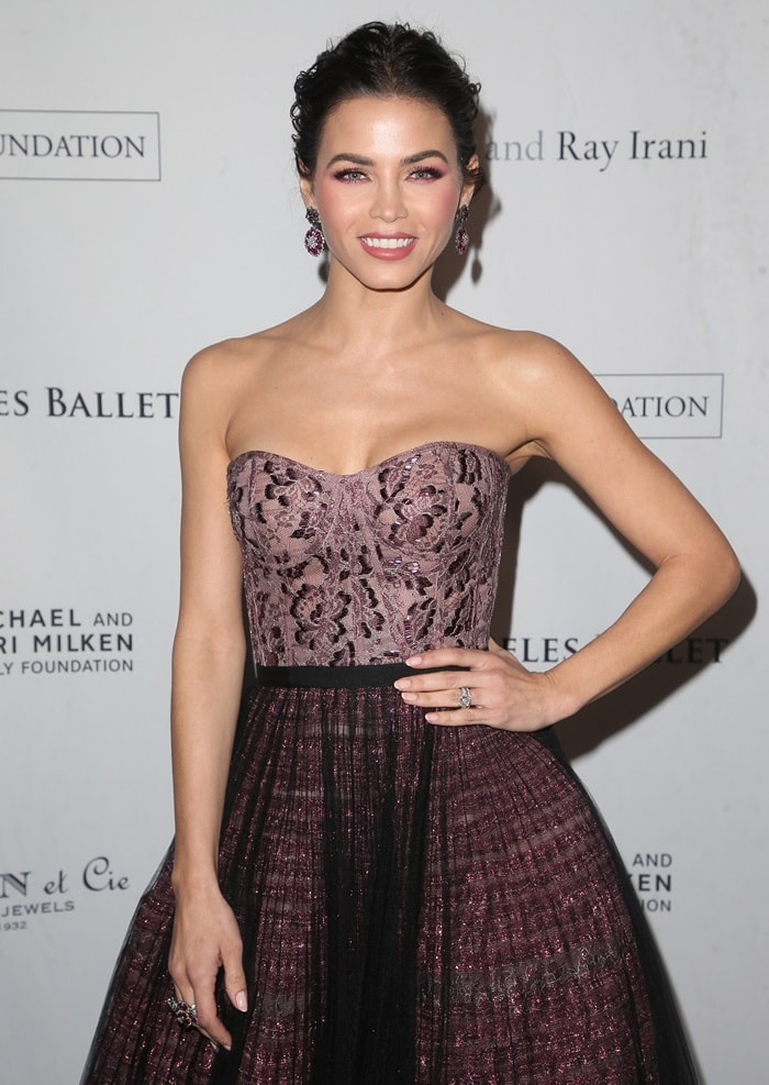 Jenna Dewan-Tatum in a strapless bodice embellished gown from the J. Mendel Pre-Fall 2018 collection at the 2018 Los Angeles Ballet Gala at the Beverly Wilshire Four Seasons Hotel in Beverly Hills, California, on February 24, 2018