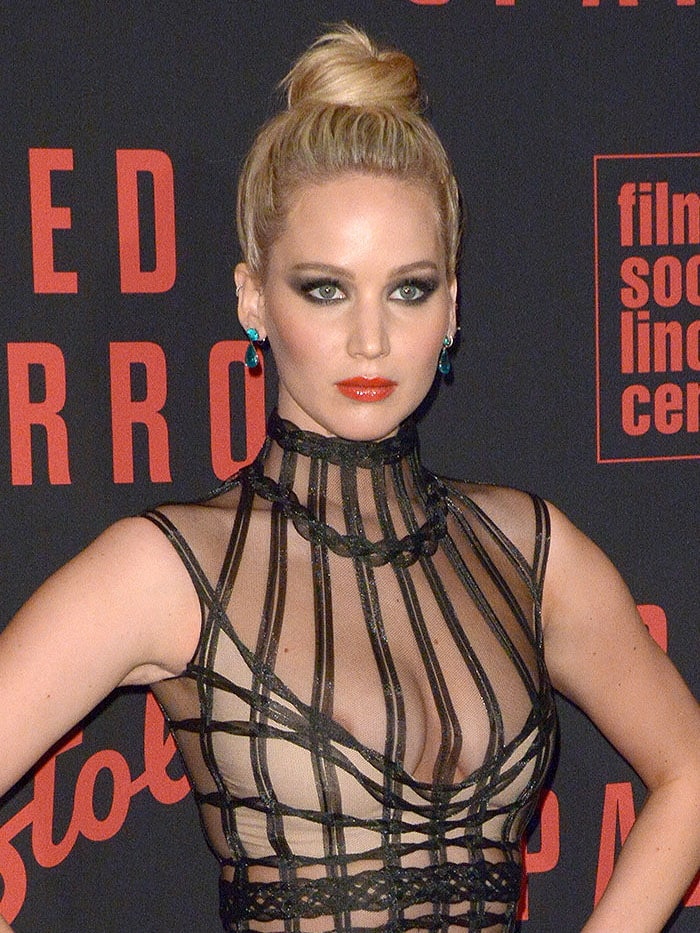 Jennifer Lawrence suffering a nip slip.