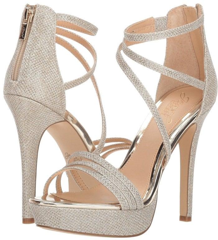 'Maeva' Strappy Glitter Evening Shoes