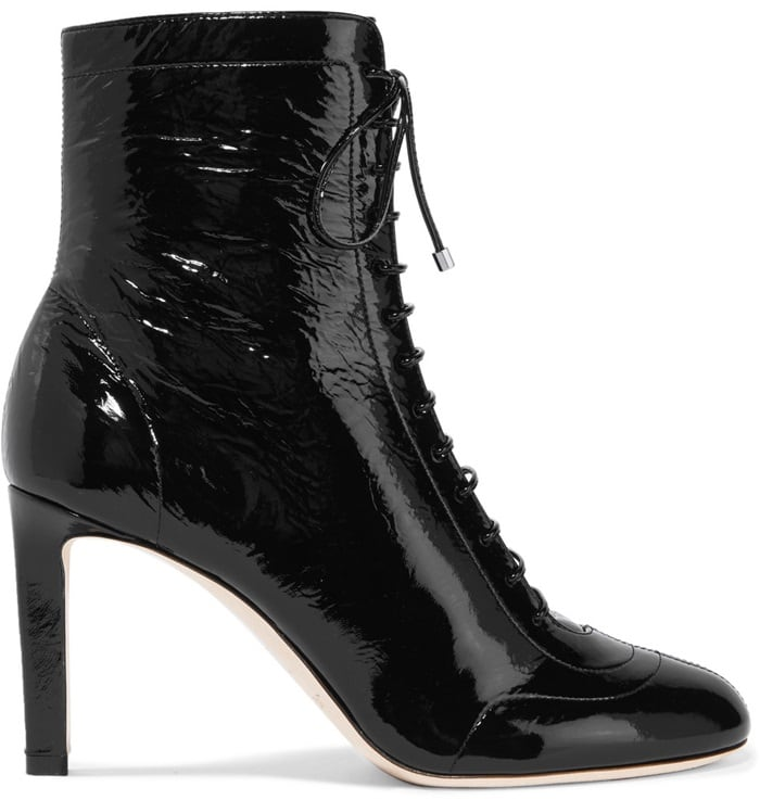 Jimmy Choo Daize 85 lace-up patent-leather boots