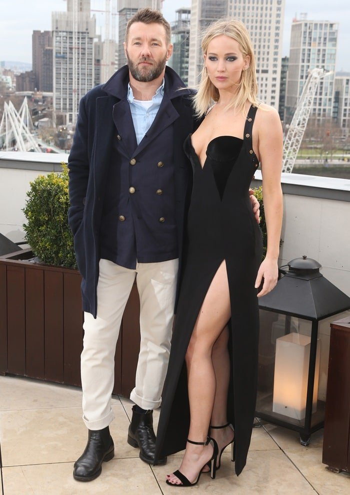 Joel Edgerton and Jennifer Lawrencepromoting their new movie at the photo call for 'Red Sparrow' held at The Corinthia Hotel in London, England, on February 20, 2018