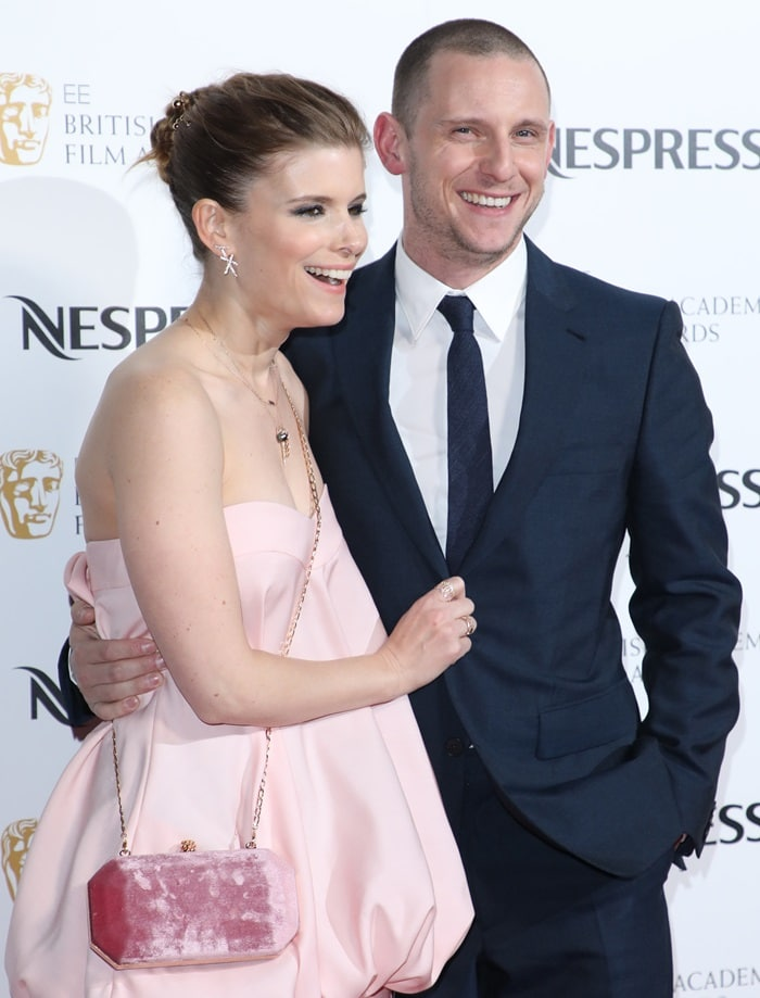 Kate Mara and Jamie Bell looked cute on the red carpet at the 2018 EE British Academy Film Awards Nominees Party at Kensington Palace in London, England, on February 17, 2018