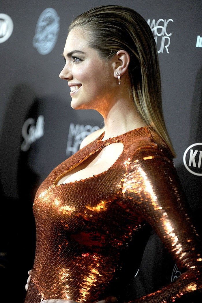 Kate Upton at theSports Illustrated Swimsuit 2018 Launch Party.
