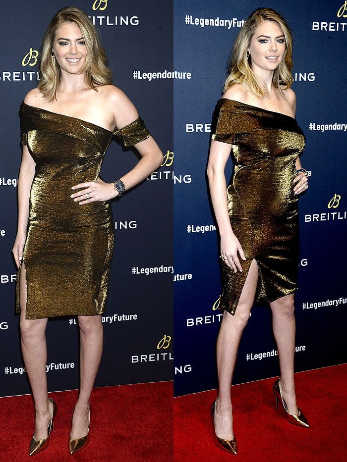 Kate Upton at theBreitling Legendary Future Roadshow event in Brooklyn, New York, on February 22, 2018.