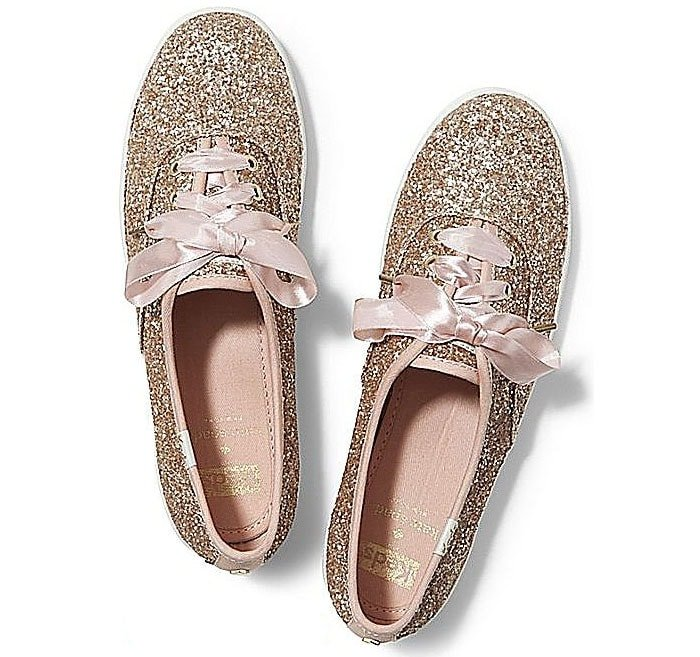 Keds for Kate Spade New York 'Champion Glitter' Sneakers in Rose Gold