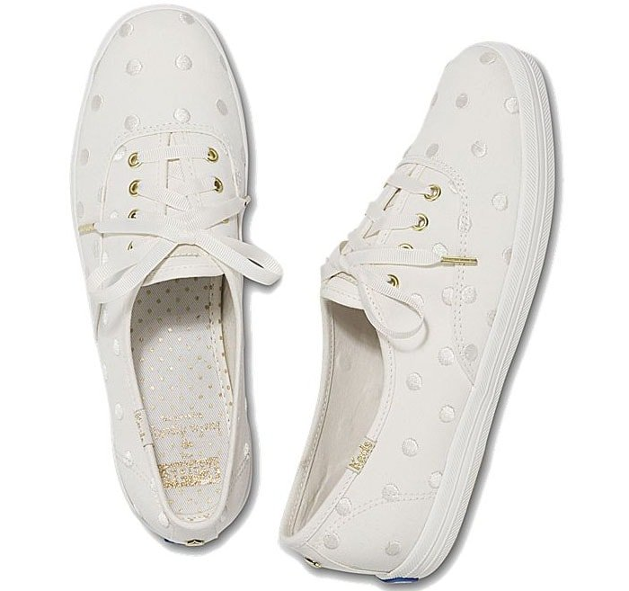 Keds for Kate Spade New York 'Champion' Sneakers in Pristine Dancing Dot