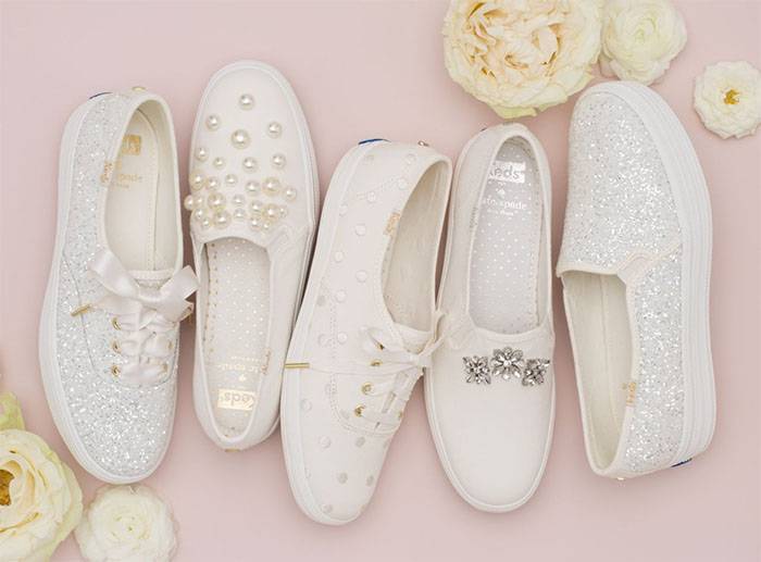 Keds for Kate Spade New York bridal sneakers.