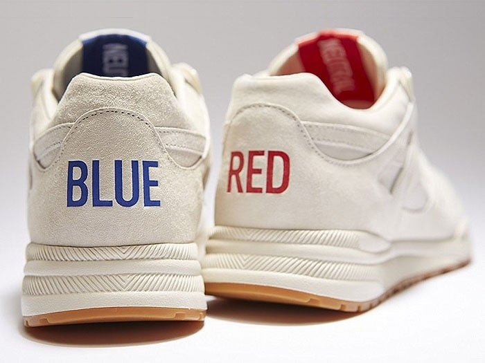 """BLUE"" and ""RED"" texts on the back of the Kendrick Lamar x Reebok 'Ventilator' sneakers."