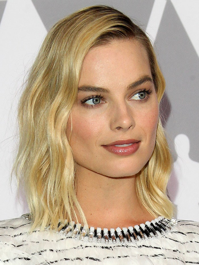 Margot Robbie at the 90th Annual Oscars Nominees Luncheon 2018 held at the Beverly Hilton Hotel in Beverly Hills, California, on February 5, 2018.