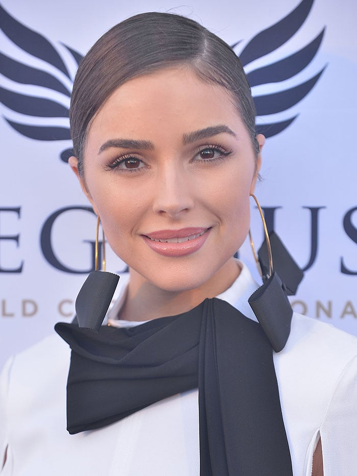 Olivia Culpo attends The $16 Million Pegasus World Cup Invitational, the world's richest thoroughbred horse race, at Gulfstream Park in Hallandale Beach, Florida, on January 27, 2018.