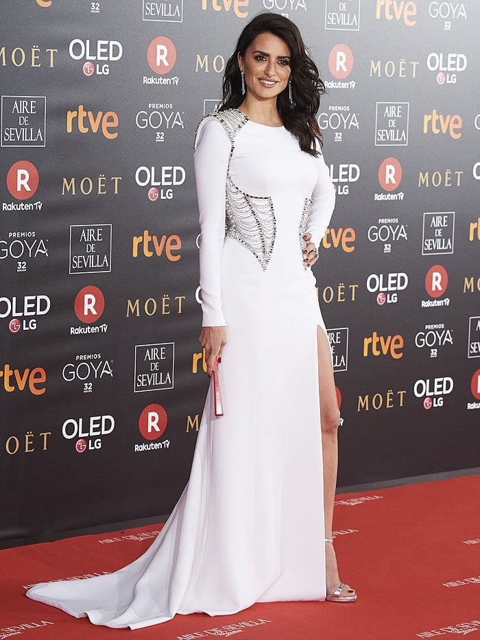 Penelope Cruz at the 2018 Goya Cinema Awards held at the Marriott Auditorium in Madrid, Spain, on February 3, 2018.