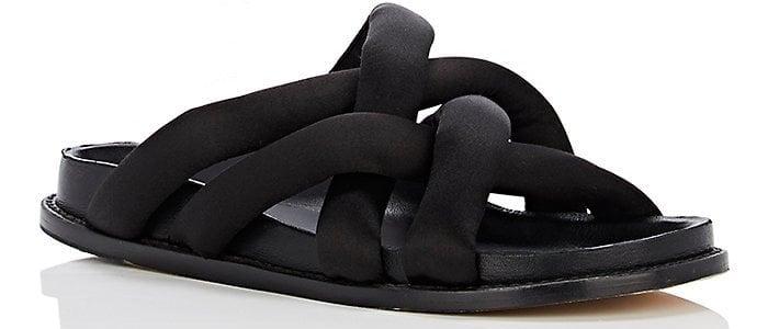 Pretzel Crossover Sandals in Black