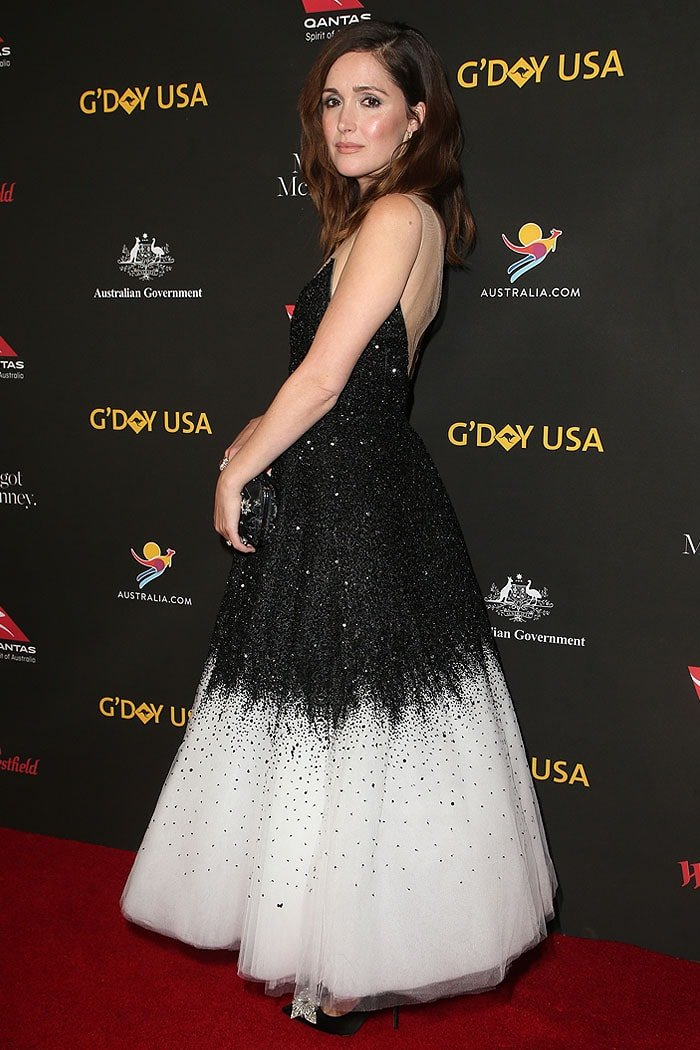 Rose Byrne at the 2018 G'Day USA's Black Tie Gala held at the Intercontinental LA Hotel in Los Angeles, California, on January 27, 2018.