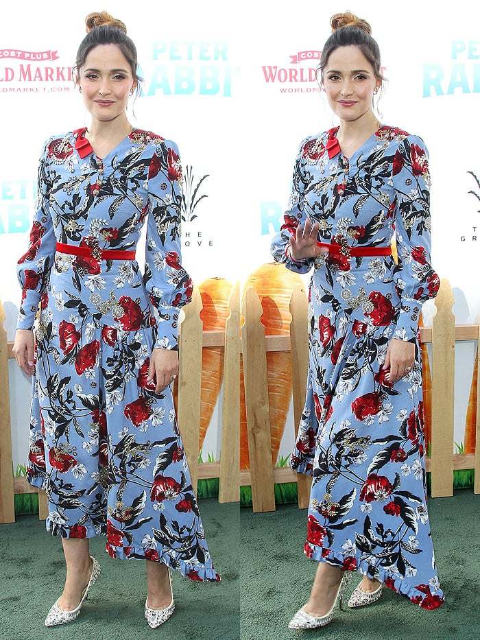 """Rose Byrne at thepremiere of """"Peter Rabbit"""" held at The Grove in Los Angeles, California, on February 3, 2018."""
