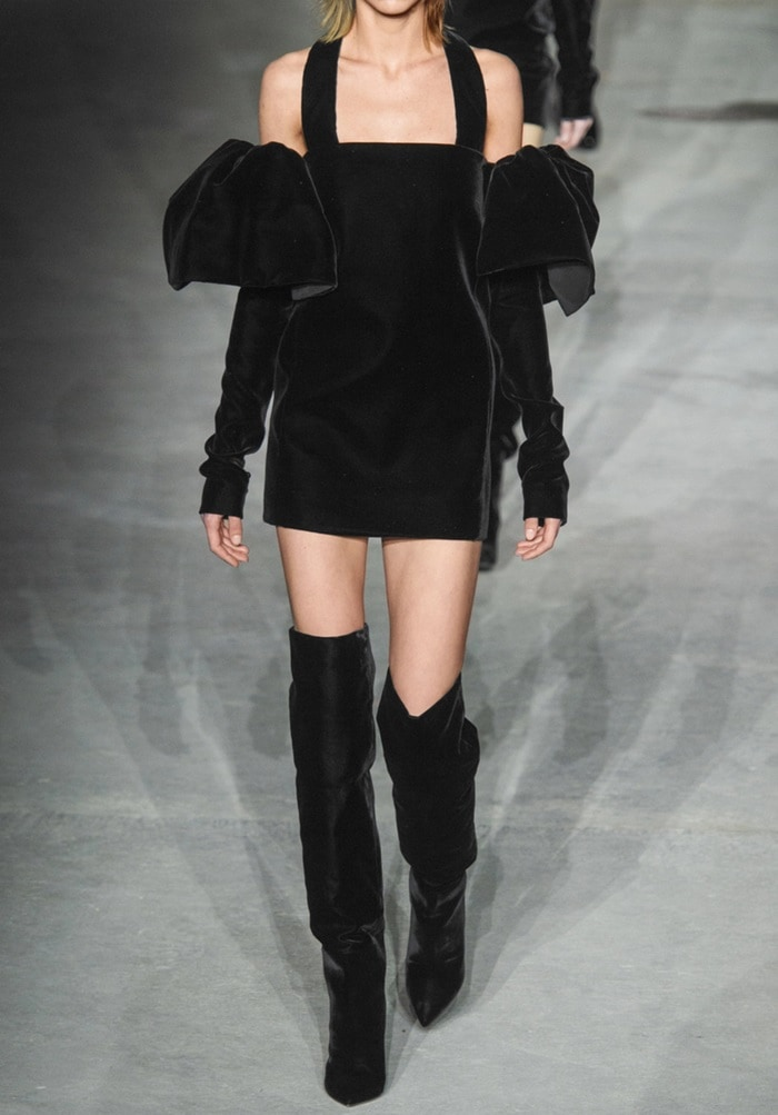These cone-heeled boots truly stole the show on Saint Laurent's Fall '17 runway
