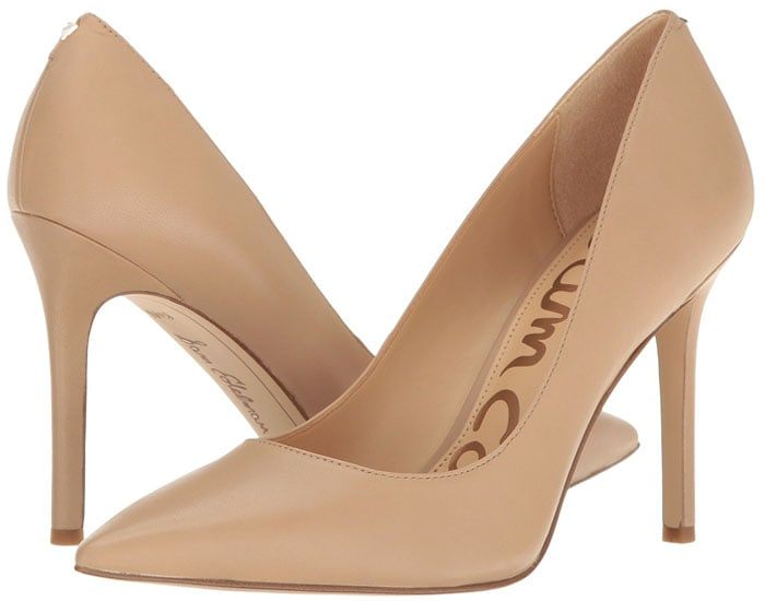 Sam Edelman 'Hazel' pumps in classic nude nappa leather.