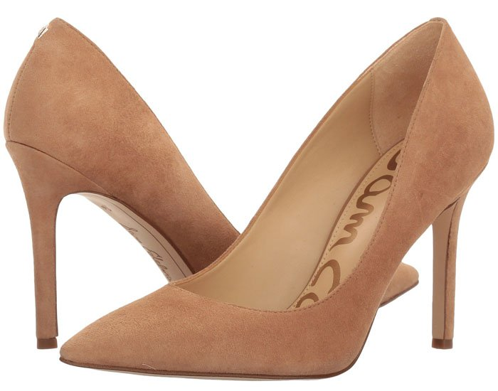 Sam Edelman 'Hazel' pumps in golden caramel kid suede.