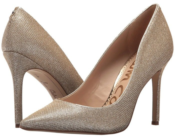 Sam Edelman 'Hazel' pumps in jute glam mesh.