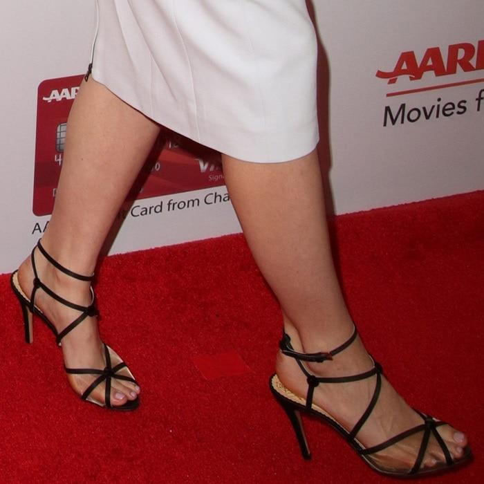 Saoirse Ronan's feet in Charlotte Olympia heels