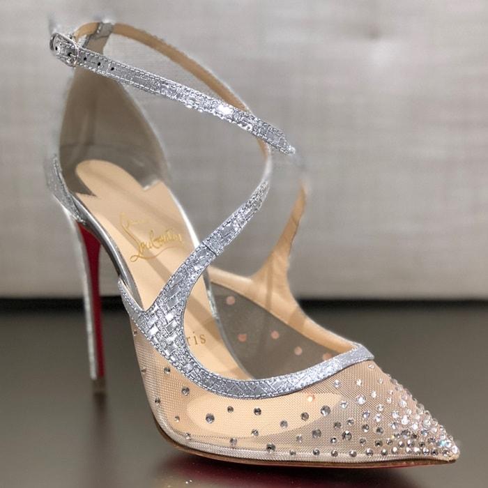 Twistissima Strass Silver Heels