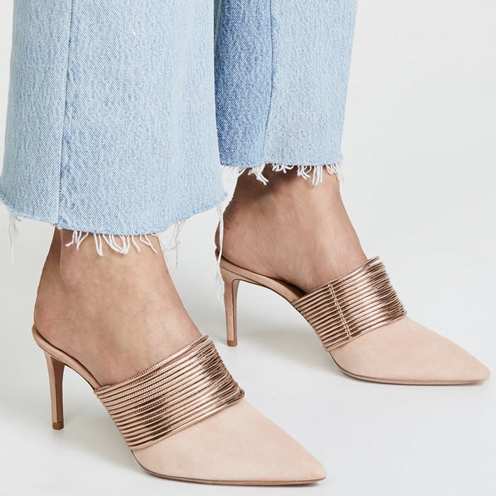 The pointed toe keeps things feeling refined, so you can make the most out of your slip-on style