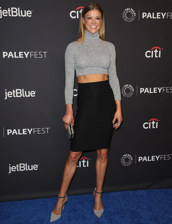 Adrianne Palicki's incredibly toned legs and tummy