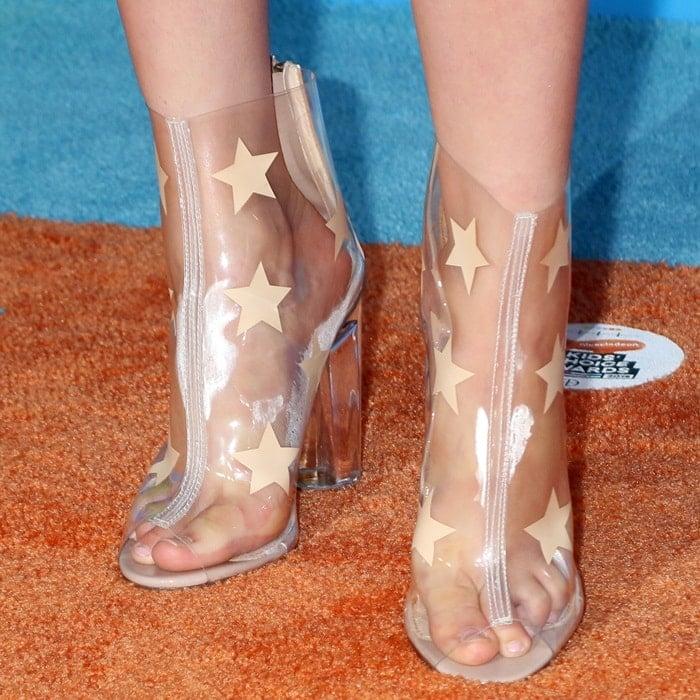 Alabama Luella Barker's feet in PVC shoes