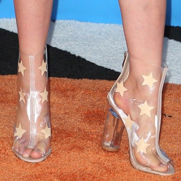 Alabama Luella Barker's feet in plastic heels