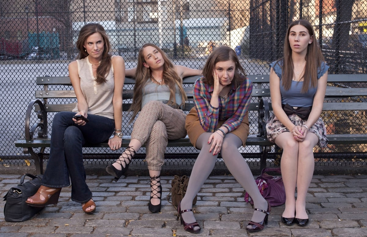 Lena Dunham, Allison Williams, Zosia Mamet, and Jemima Kirke play the main characters in Girls