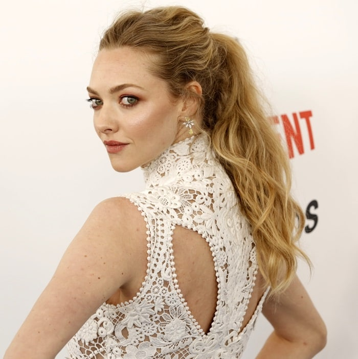 Amanda Seyfried rocking a wavy ponytail
