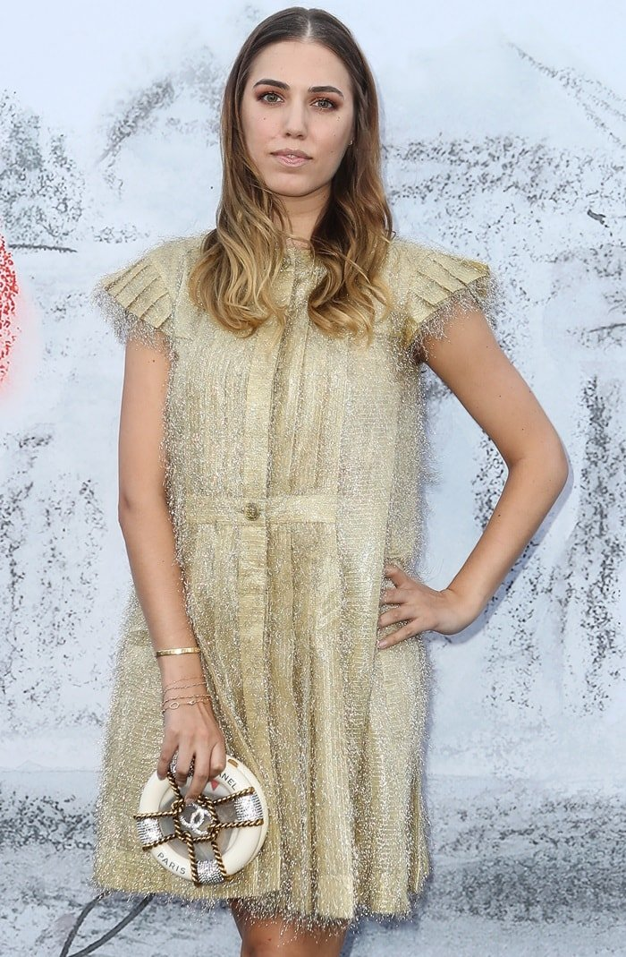 Amber Le Bon at the 2018 Serpentine Gallery Summer Party held at Kensington Gardens in London on June 19, 2018