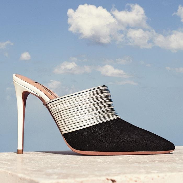 Aquazzura 'Rendez Vous' leather mules in black