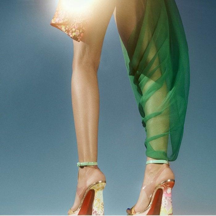 Kimono Fabric 'Artisandale'Art Deco Heels