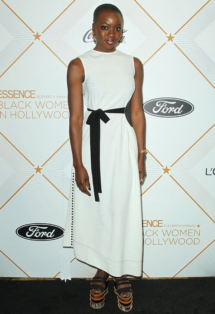 Danai Gurira at the 2018 Essence Black Women in Hollywood Oscars Luncheon